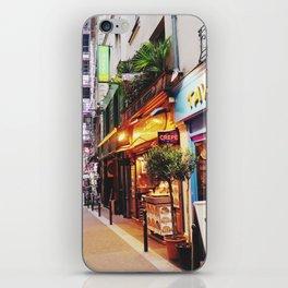 Paris small street iPhone Skin