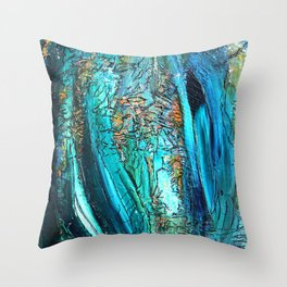 Doodle in blue Throw Pillow