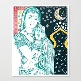 Hindu Woman Canvas Print
