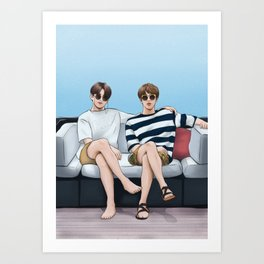 bts jinkook summer Art Print