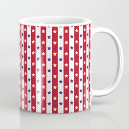 Stars and Stripes | Red White and Blue Pattern | Coffee Mug