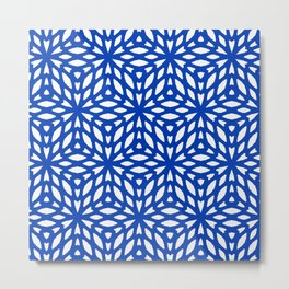 Blue and White Pattern Metal Print