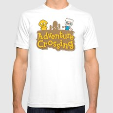 Adventure Crossing White Mens Fitted Tee SMALL