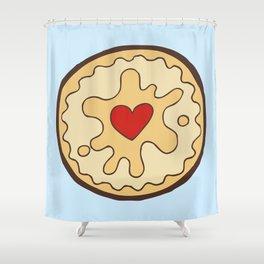 Jammy Dodger British Biscuit Shower Curtain