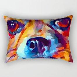 Chihuahua Watercolor Rectangular Pillow