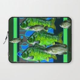 MODERN ART DECORATIVE GREEN FISH AQUATIC Laptop Sleeve