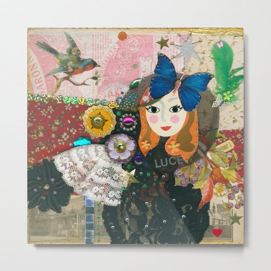 Paper Dollies - Jane Metal Print