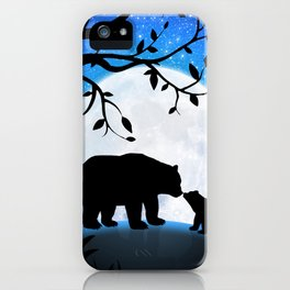 Moon and bears iPhone Case