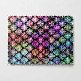 Rings Of Color Pattern Metal Print