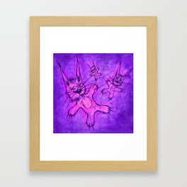 Record Cover for some Jazzed Rabbits, Indigoish. Framed Art Print