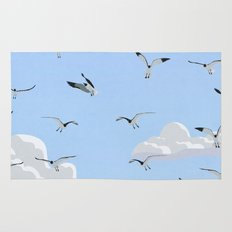 Boat and Birds Rug