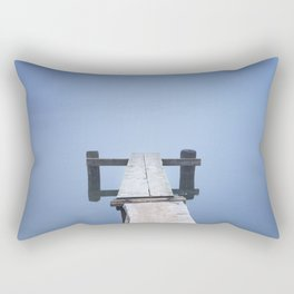 Jetty on Bohinj Lake in Slovenia on a misty morning Rectangular Pillow