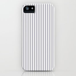 Lilac Gray Stripes iPhone Case