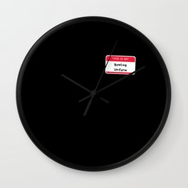 This Is My Bowling Uniform Wall Clock