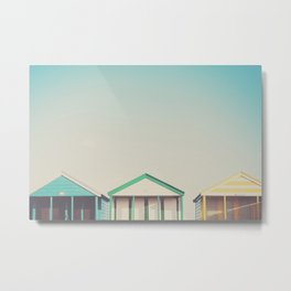 beach hut roofs ... Metal Print