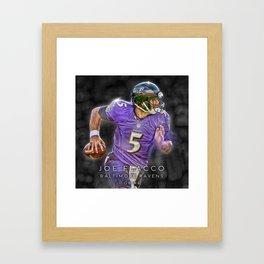 Joe Flacco Framed Art Print