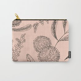 Floating Blush Garden Carry-All Pouch