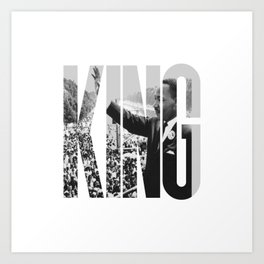 King - Martin Luther Art Print