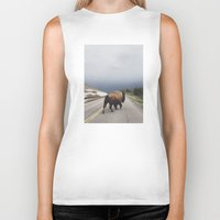 city Biker Tanks featuring Street Walker by Kevin Russ