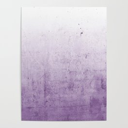 Radiant Orchid Purple Ombre  Poster