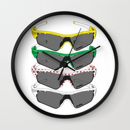 Tour de France Glasses Wall Clock