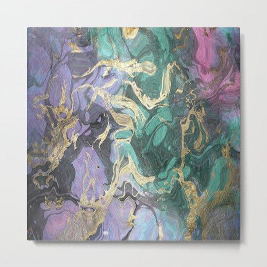 Liquid Splash Of Colors Metal Print