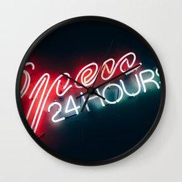 Open 24 hours Wall Clock