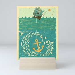GOLDEN ANCHOR Mini Art Print