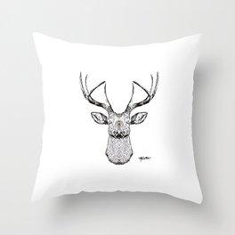 """""""The Deer Mania"""" Throw Pillow"""