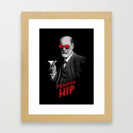 Hipster Psychologist Sigmund Freud Framed Art Print