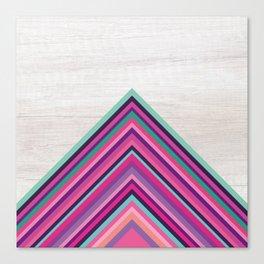 Wood and Bright Stripes, Chevron - Geometric Design Canvas Print