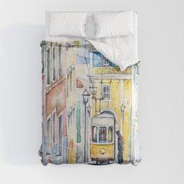 Lisbon Tram Comforters