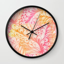 Gradient Floral Pattern 02 Wall Clock