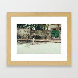 Kids in India Framed Art Print