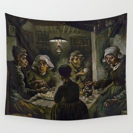 1885-Vincent van Gogh-The potato eaters Wall Tapestry