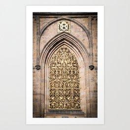 Golden Window Art Print