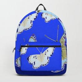 PATTERN OF BLUE & WHITE BUTTERFLIES MODERN ART Backpack