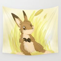 hare Wall Tapestries featuring Autumn Hare by IowaShots