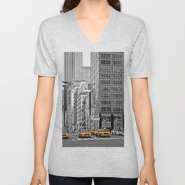 NYC Yellow Cabs NYPD - USA Unisex V-Neck
