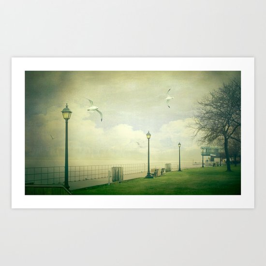 On The Boardwalk Art Print