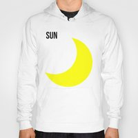 sun and moon Hoodies featuring SUN by try2benice