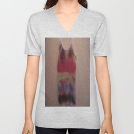 Rainbow-Spray Graffiti Art Print. Unisex V-Neck