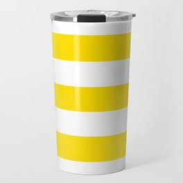 Philippine golden yellow - solid color - white stripes pattern Travel Mug