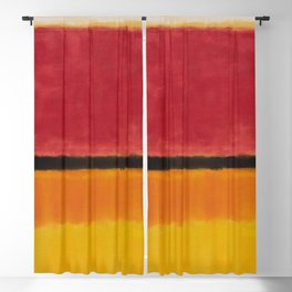 1949 Untitled (Violet, Black, Orange, Yellow on White and Red) by Mark Rothko Blackout Curtain