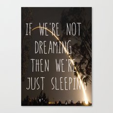 Dreaming or Sleeping Canvas Print
