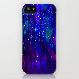 TREES MOON AND SHOOTING STARS iPhone Case