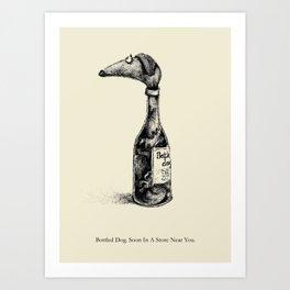 Bottled Dog Art Print