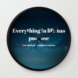 A Lil Dicky Philosophy Wall Clock