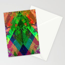 Beauty In Symmetry - Abstract, geometric, textured, symmetrical artwork Stationery Cards