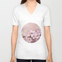 cherry blossom V-neck T-shirts featuring Cherry Blossom by LebensART Photography